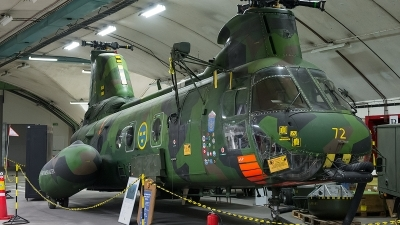 Photo ID 106293 by Lieuwe Hofstra. Sweden Air Force Kawasaki Boeing Vertol KV 107 Hkp 4C, 04072