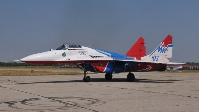 Photo ID 106099 by Peter Terlouw. Russia Air Force Mikoyan Gurevich MiG 29 9 13, 03 BLUE