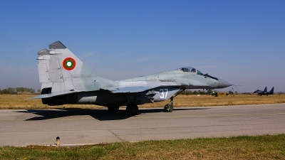 Photo ID 107769 by Lukas Kinneswenger. Bulgaria Air Force Mikoyan Gurevich MiG 29 9 12, 37