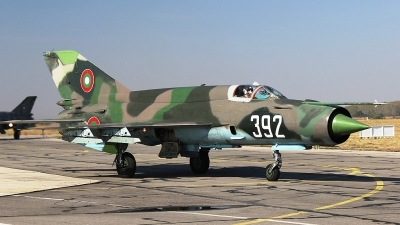 Photo ID 107803 by Stamatis Alipasalis. Bulgaria Air Force Mikoyan Gurevich MiG 21bis, 392