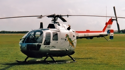 Photo ID 108036 by Johannes Berger. Netherlands Air Force MBB Bo 105CB 4, B 77