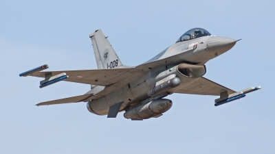 Photo ID 108204 by JFM van Oers - Airshow Pictures. Netherlands Air Force General Dynamics F 16AM Fighting Falcon, J 008