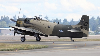 Photo ID 109676 by Alex Jossi. Private Heritage Flight Museum Douglas AD 4N Skyraider, NX965AD