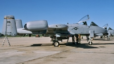 Photo ID 110328 by David F. Brown. USA Air Force Fairchild A 10A Thunderbolt II, 82 0647