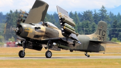 Photo ID 110961 by CJ Lebel. Private Heritage Flight Museum Douglas AD 4N Skyraider, NX965AD