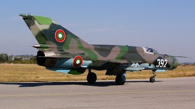 Photo ID 112484 by Lukas Kinneswenger. Bulgaria Air Force Mikoyan Gurevich MiG 21bis, 392