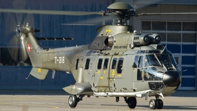 Photo ID 112832 by Thomas Ziegler - Aviation-Media. Switzerland Air Force Aerospatiale AS 332M1 Super Puma, T 318
