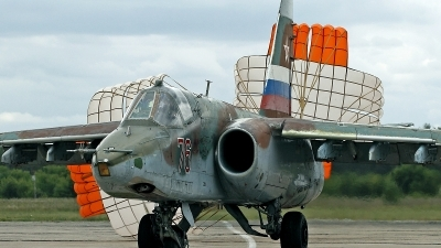 Photo ID 113117 by Carl Brent. Russia Air Force Sukhoi Su 25, 76 RED