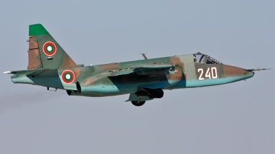 Photo ID 113335 by Jan Suchanek. Bulgaria Air Force Sukhoi Su 25K, 240