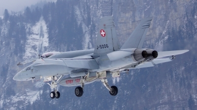 Photo ID 113506 by Lukas Kinneswenger. Switzerland Air Force McDonnell Douglas F A 18C Hornet, J 5006