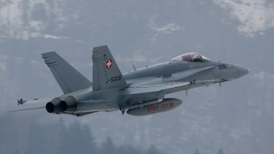 Photo ID 113754 by Lukas Kinneswenger. Switzerland Air Force McDonnell Douglas F A 18C Hornet, J 5006