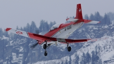 Photo ID 113634 by Lukas Kinneswenger. Switzerland Air Force Pilatus NCPC 7 Turbo Trainer, A 930