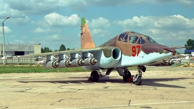 Photo ID 113948 by Sven Zimmermann. Russia Air Force Sukhoi Su 25UB, 97 RED