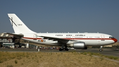 Photo ID 114166 by Thomas Ziegler - Aviation-Media. Spain Air Force Airbus A310 304, T 22 2