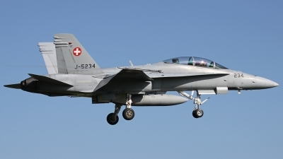 Photo ID 114823 by Andreas Weber. Switzerland Air Force McDonnell Douglas F A 18D Hornet, J 5234