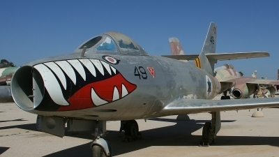 Photo ID 116350 by Paul Newbold. Israel Air Force Dassault MD 450 Ouragan, 49