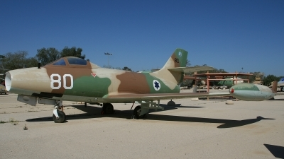 Photo ID 116349 by Paul Newbold. Israel Air Force Dassault MD 450 Ouragan, 80