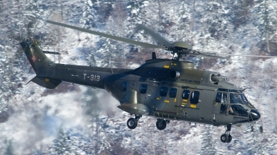 Photo ID 116523 by Thomas Ziegler - Aviation-Media. Switzerland Air Force Aerospatiale AS 332M1 Super Puma, T 313