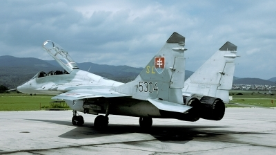 Photo ID 116776 by Marinus Dirk Tabak. Slovakia Air Force Mikoyan Gurevich MiG 29UB 9 51, 5304