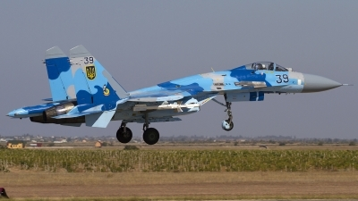 Photo ID 116815 by Chris Lofting. Ukraine Air Force Sukhoi Su 27S, 39 BLUE