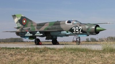Photo ID 117018 by Stamatis Alipasalis. Bulgaria Air Force Mikoyan Gurevich MiG 21bis, 392