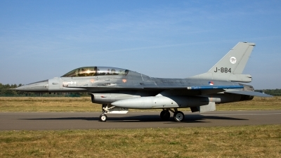 Photo ID 117219 by Thomas Ziegler - Aviation-Media. Netherlands Air Force General Dynamics F 16B Fighting Falcon, J 884