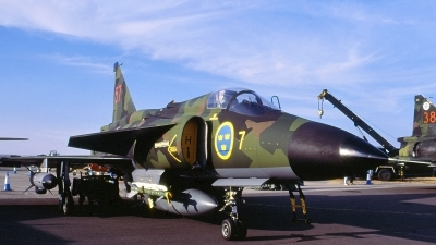 Photo ID 117271 by Walter Van Bel. Sweden Air Force Saab AJS 37 Viggen, 37057