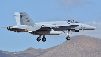 Photo ID 117770 by Lieuwe Hofstra. Spain Air Force McDonnell Douglas F A 18A Hornet, C 15 84