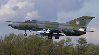 Photo ID 118126 by Chris Lofting. Croatia Air Force Mikoyan Gurevich MiG 21bisD, 115