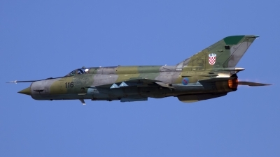 Photo ID 118225 by Chris Lofting. Croatia Air Force Mikoyan Gurevich MiG 21bisD, 116