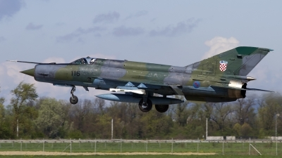 Photo ID 118224 by Chris Lofting. Croatia Air Force Mikoyan Gurevich MiG 21bisD, 116