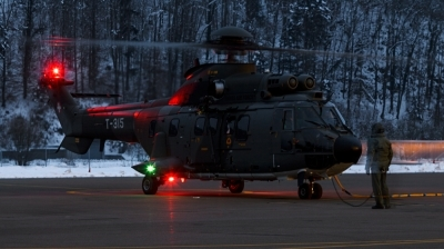 Photo ID 119363 by Mathias Grägel - GME-AirFoto. Switzerland Air Force Aerospatiale AS 332M1 Super Puma, T 315