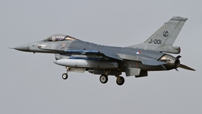 Photo ID 118755 by Niels Roman / VORTEX-images. Netherlands Air Force General Dynamics F 16AM Fighting Falcon, J 001