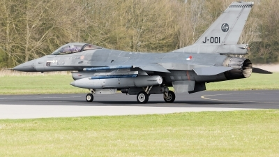 Photo ID 119463 by Alex van Noye. Netherlands Air Force General Dynamics F 16AM Fighting Falcon, J 001