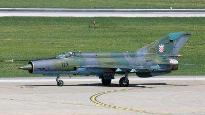 Photo ID 119199 by Ondrej M.. Croatia Air Force Mikoyan Gurevich MiG 21bisD, 117