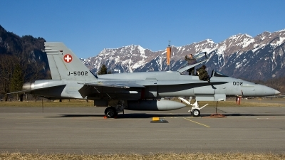 Photo ID 120009 by Thomas Ziegler - Aviation-Media. Switzerland Air Force McDonnell Douglas F A 18C Hornet, J 5002