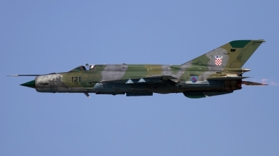 Photo ID 120672 by Chris Lofting. Croatia Air Force Mikoyan Gurevich MiG 21bisD, 121