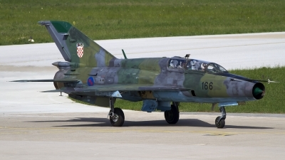 Photo ID 120671 by Chris Lofting. Croatia Air Force Mikoyan Gurevich MiG 21UMD, 166