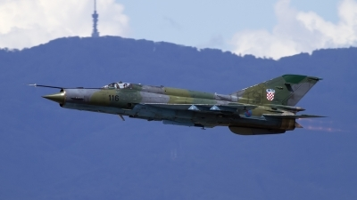 Photo ID 120670 by Chris Lofting. Croatia Air Force Mikoyan Gurevich MiG 21bisD, 116