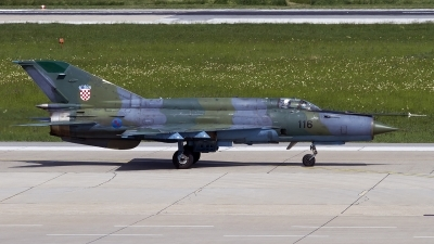 Photo ID 120830 by Chris Lofting. Croatia Air Force Mikoyan Gurevich MiG 21bisD, 116