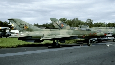 Photo ID 120781 by Joop de Groot. East Germany Air Force Mikoyan Gurevich MiG 21F 13, 645