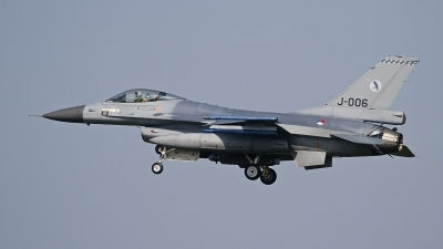Photo ID 120817 by Niels Roman / VORTEX-images. Netherlands Air Force General Dynamics F 16AM Fighting Falcon, J 006