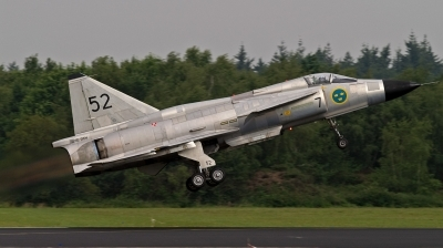 Photo ID 121874 by Robert Arts. Private Swedish Air Force Historic Flight Saab AJS 37 Viggen, SE DXN
