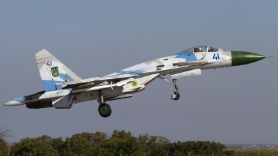 Photo ID 121958 by Chris Lofting. Ukraine Air Force Sukhoi Su 27S, 41 BLUE