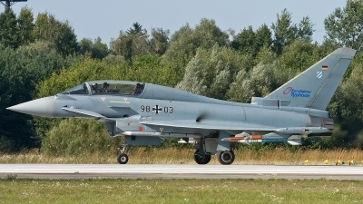 Photo ID 122186 by Thomas Ziegler - Aviation-Media. Germany Air Force Eurofighter EF 2000 Typhoon T, 98 03