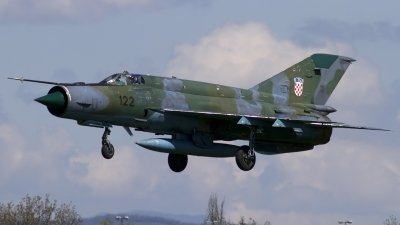Photo ID 122304 by Chris Lofting. Croatia Air Force Mikoyan Gurevich MiG 21bisD, 122