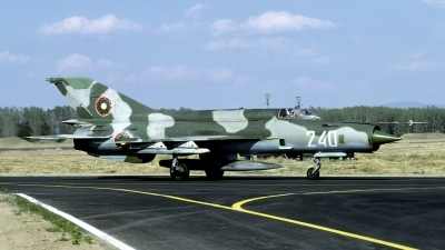 Photo ID 122678 by Joop de Groot. Bulgaria Air Force Mikoyan Gurevich MiG 21bis, 240