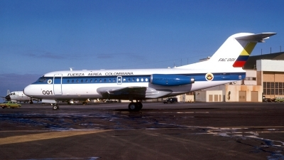 Photo ID 122838 by Baldur Sveinsson. Colombia Air Force Fokker F 28 1000 Fellowship, FAC 0001