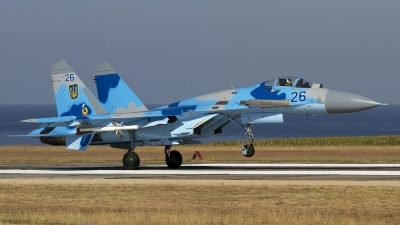 Photo ID 123287 by Chris Lofting. Ukraine Air Force Sukhoi Su 27, 26 BLUE