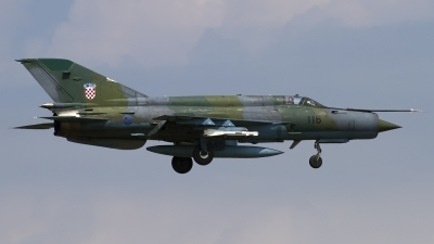 Photo ID 123404 by Chris Lofting. Croatia Air Force Mikoyan Gurevich MiG 21bisD, 116